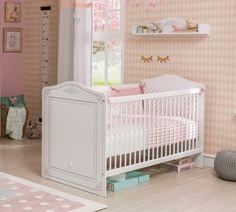 Patut din pal, pentru bebe Selena Baby White, 140 x 70 cm Girl Room, Baby Room, Kidsroom, Selena, Cribs, Interior Design, Bed, House, Inspiration