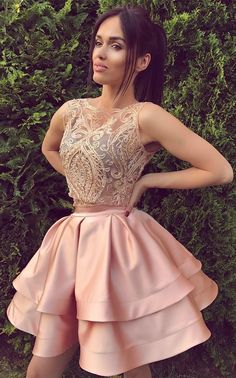 Only $119--Two Pieces Short Homecoming Dress, lace party dress, back to school wear. 27dress.com
