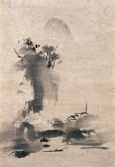 Haboku, Splashed Ink Landscape by Toyo Sesshu