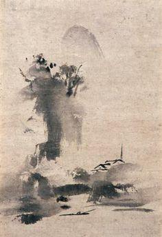 Haboku, Splashed Ink Landscape by Toyo Sesshu