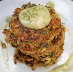 How to make Cheesy Zucchini Fritters | The Simple Treat
