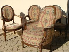 LOT X 5 Fauteuils Bergere Cabriolet Medaillon Estampille Antiquites Xviiième | eBay