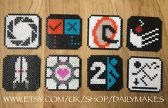 Portal coasters perler beads by DailyMakes