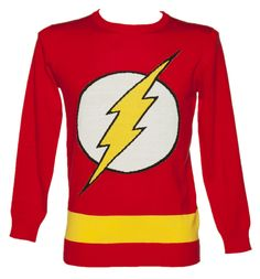 Mens Red Lightweight DC Comics Flash Jumper The Flash of DC comics features on this awesome red lightweight jumper. Along with the classic logo on the front of the sweater, it also holds a gold band round the waist, matching The Flash (watch ou http://www.comparestoreprices.co.uk/t-shirts/mens-red-lightweight-dc-comics-flash-jumper.asp