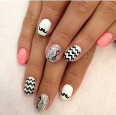 Chevron Infinity nail art