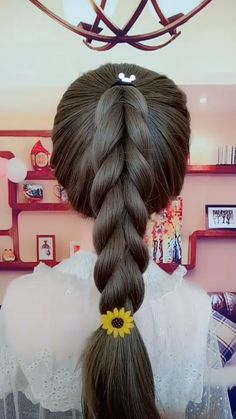 Kawaii Hairstyles, Cute Hairstyles, Braided Hairstyles, Step Hairstyle, Pooja Sharma, Pony Style, Prom Hairstyles For Long Hair, Pigtail Braids, Synthetic Lace Front Wigs