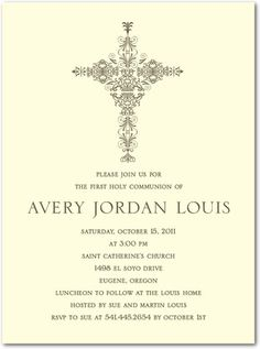 first communion invitation idea