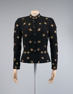* Evening jacket synthetics, plastic, metallic thread winter 1938–39 Elsa Schiaparelli