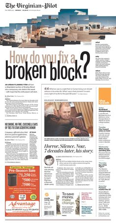 How do you fix a broken block? - Newspaper Design