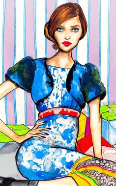 The Christmas Girl 8inx11in Art Print by DannyRoberts on Etsy, $20.00