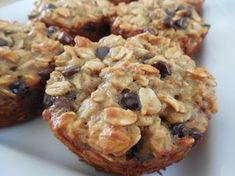 Weight watcher recipes, Peanut butter chocolate banana oatmeal muffins by drizzle me skinny