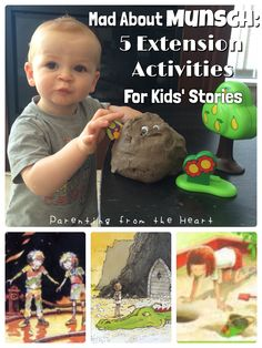 Mad About Munsch: 5 Extension Activities for Kids' Stories | Parenting From The Heart  kids lit, children's lit, Robert Munsch extension activities with play dough #learningthroughplay