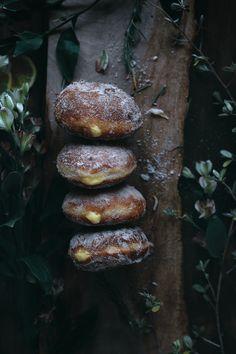 Rosemary Lemon Cream Filled Beignets with Lemon Sugar
