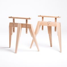 Compass Table Legs, Beech - Office + Storage