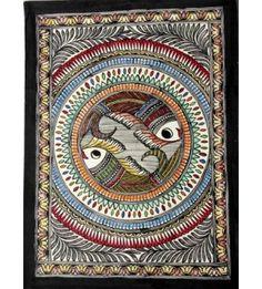 Multicoloured Madhubani Painting