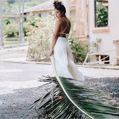 :::Joelle Perry::: crushed silk bridal jumpsuit. Made in the USA. Fully lined with adjustable 2-way straps. Unbelievable perfect fit and SUPER comfortable.. things that are SO important on your wedding day. Buy now at Joelleperry.com | #joelleperryhawaii #bridal #engaged #engagement #styledshoot #palm #palmtree #silk #weddingdress #wedding #beachbride #beachwedding #bohobride #destinationwedding #hawaii  @alinamendoza