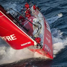 MAPFRE during the race through the Southern Ocean to Itajaí. Photo by Maria Muina / MAPFRE #volvooceanrace #sailing #MAPFRE