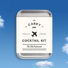 Father's Day Gift Idea: So that your man might make an Old Fashioned where ever he goes (or flies), this pocket-sized kit is an awesome gift!