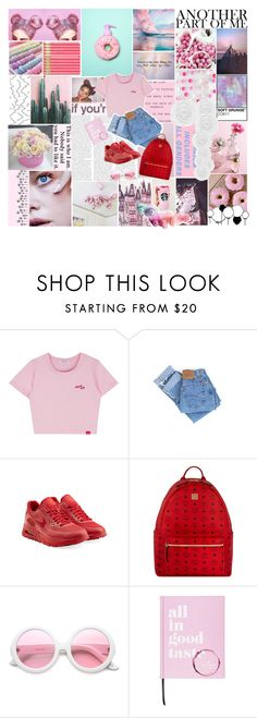 """Crazy pink"" by citlalisanchezd ❤ liked on Polyvore featuring Levi's, NIKE, MCM, ZeroUV, Kate Spade and PAM"