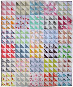 Red Pepper Quilts made this retro triangle quilt. I love it!