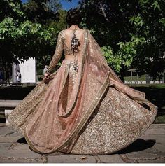 The best thing which you want about such lehengas is these are one-of-a-kind and versatile. For an immediate Barbie-look you can decide on a ruffled lehenga. Should youn't need to go the standard way, then this lehenga is most likely… Continue Reading → Indian Bridal Wear, Indian Wedding Outfits, Bridal Outfits, Indian Wear, Indian Outfits, Indian Reception Outfit, Indian Engagement Outfit, Bride Indian, Indian Bridal Lehenga