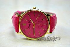 Golden Watch Vintage Style Leather Watch Rose Red by GiftShow, $6.99 Simple handmade leather watch