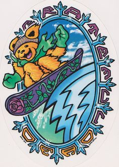 Grateful Dead Snowbear Sticker - I found this on www.tshirtnow.net Grateful Dead Wallpaper, Grateful Dead Poster, Grateful Dead Dancing Bears, Grateful Dead Quotes, Rock Posters, Retro Posters, Band Posters, Music Posters, Dead And Company