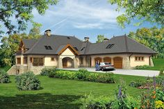 Projekt domu Willa Panorama 323,3 m2 - koszt budowy - EXTRADOM Modern Bungalow, House 2, Home Fashion, Mansions, House Styles, Home Decor, Mansion Houses, Homemade Home Decor, Manor Houses