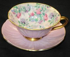 SHELLEY SUMMER GLORY CHINTZ OLEANDER TEA CUP AND SAUCER