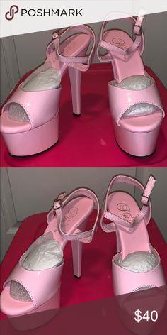 """b838215b41e Soft pink pleaser high heels 6"""" Light baby pink 6"""" stilletos Pleaser Shoes  Heels"""