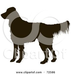 Dark Brown Golden Retriever Dog Silhouette Posters, Art Prints.... i want this as a tattoo in memory of my golden