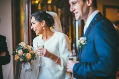 Bride & Groom at Dingle Skellig Hotel West Coast, Bride Groom, Perfect Wedding, Backdrops, Weddings, Wedding Dresses, Pictures, Fashion, Bride Dresses