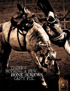 Yes, and I have six screws and two plates to prove it. I could have just tripped or something or been in a car accident. Being with my horse made it just worthwhile.