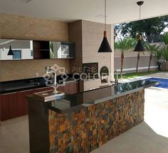 Kitchen Room Design, Outdoor Kitchen Design, Modern Kitchen Design, Interior Design Living Room, Built In Kitchen Appliances, Pvc Ceiling Design, Dirty Kitchen, Bathroom Tile Designs, Dream House Exterior