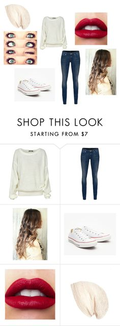 """Untitled #117"" by rachel-lynn786 ❤ liked on Polyvore featuring 7 For All Mankind, Converse and Cara"
