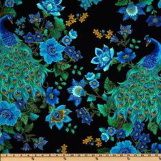Timeless Treasures Peacock Fabric Sold per Half Yards Perfect for Quilts/Home Decor accents/Crafts Projects as well as Apparel and many more by FabricGiantUSA on Etsy https://www.etsy.com/listing/206955461/timeless-treasures-peacock-fabric-sold