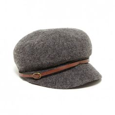 Women's Charcoal Wool Wool Cabbie With Band by Sole Society