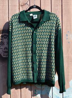 c82e0797 Men's Sweater // Kennington Cardigan // Vintage Kennington Sweater // Retro  Cardigan