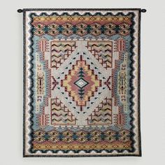 This is everything to me! On-line at worldmarket.com :Turquoise Southwestern Wall Tapestry