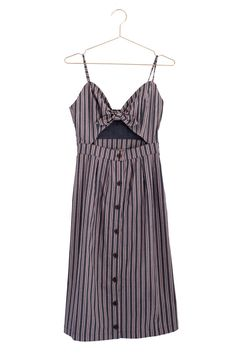 Striped Cut Out Midi Dress | #mooreaseal