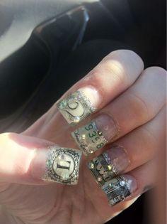 Bank teller manicure.
