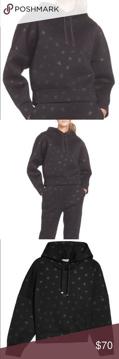 ef546e164fb Kate Spade heart embossed hoodie Wear your heart on the sleeve