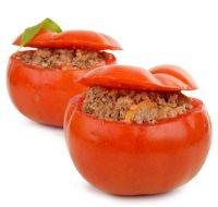 Dès 9 mois-Recette - Tomate farcie à l'agneau - Sans lait-Sans œuf.