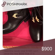 Valentino boots WORN ONCE 🌸🌸🌸🌸TAKING OFFERS LOVELY ANKLE BOOTS 🌷🌷🌷🌷 Valentino Garavani Shoes Ankle Boots & Booties