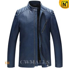 CWMALLS® Mens Leather Motorcycle Jacket CW806032 Handsome leather motorcycle jacket in genuine natural lambskin leather, and fully lined. Classics men's moto leather jacket designed in full YKK zip closure, stand collar with snap button, chest zip pocket, zip cuffs. www.cwmalls.com PayPal Available (Price: $577.89) Email:sales@cwmalls.com