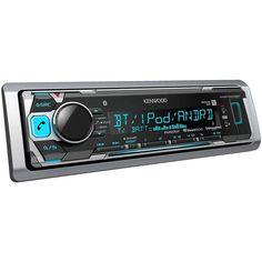 Kenwood KMR-M318BT 1-DIN Mechless Bluetooth Digital Media Marine Stereo Receiver #Kenwood