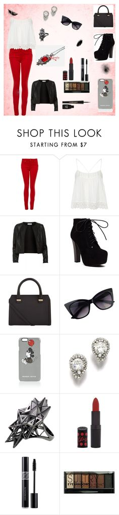 """""""Izzy School"""" by badsebslands ❤ liked on Polyvore featuring Paige Denim, Topshop, Maglie I Blues, Victoria Beckham, Markus Lupfer, John Brevard, Rimmel, Boohoo and Napoleon Perdis"""