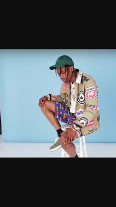 Travi$ scott is one of my favorite fashion icons because of his weird unique style.