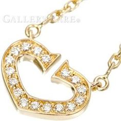 カルティエ ネックレス Cハート ダイヤモンド K18PGピンクゴールド B7008400 Cartier ペンダント チェーン ジュエリー ダイアモンド