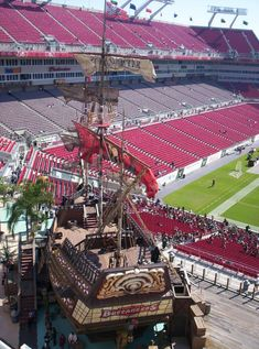 tampa bay buccaneers stadium pirate ship - Google Search